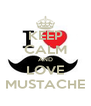 KEEP CALM AND LOVE MUSTACHE - Personalised Poster A4 size