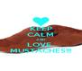 KEEP CALM AND LOVE  MUSTACHES!!! - Personalised Poster A4 size