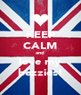KEEP CALM and love my bezzies! - Personalised Poster A4 size