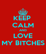 KEEP  CALM AND LOVE MY BITCHES - Personalised Poster A4 size