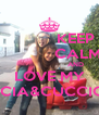 KEEP              CALM                         AND LOVE MY CICCIA&CUCCIOLA - Personalised Poster A4 size