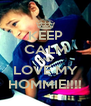 KEEP CALM AND LOVE MY HOMMIE!!!! - Personalised Poster A4 size