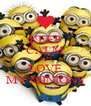 KEEP CALM AND LOVE MY MINIONS - Personalised Poster A4 size