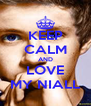 KEEP CALM AND LOVE MY NIALL - Personalised Poster A4 size