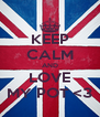 KEEP CALM AND LOVE MY POT <3 - Personalised Poster A4 size