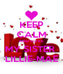 KEEP CALM AND LOVE MY SISTER  LILLIE-MAE - Personalised Poster A4 size
