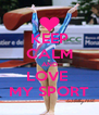 KEEP CALM AND LOVE  MY SPORT - Personalised Poster A4 size