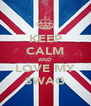 KEEP CALM AND LOVE MY SWAG - Personalised Poster A4 size