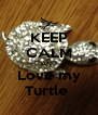 KEEP CALM AND Love my Turtle  - Personalised Poster A4 size