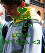 KEEP CALM AND LOVE  MYSZA <3 - Personalised Poster A4 size