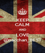 KEEP CALM AND LOVE @nacchan_BE5T - Personalised Poster A4 size