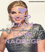 KEEP CALM AND LOVE NADEUGE - Personalised Poster A4 size