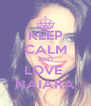 KEEP CALM AND LOVE  NAIARA - Personalised Poster A4 size