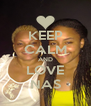 KEEP CALM AND LOVE NAS - Personalised Poster A4 size