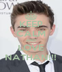KEEP CALM AND LOVE NATHAN!!! - Personalised Poster A4 size