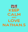 KEEP CALM AND LOVE NATHAN.S - Personalised Poster A4 size