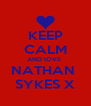 KEEP CALM AND lOVE  NATHAN  SYKES X - Personalised Poster A4 size