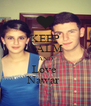 KEEP CALM AND Love  Nawar  - Personalised Poster A4 size