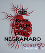 KEEP CALM AND LOVE NEGRAMARO - Personalised Poster A4 size