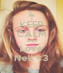 KEEP CALM AND Love Nell <3 - Personalised Poster A4 size