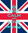 KEEP CALM AND LOVE nelya^* - Personalised Poster A4 size