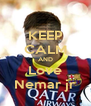 KEEP CALM AND Love Nemar jr - Personalised Poster A4 size