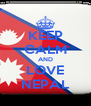 KEEP CALM AND LOVE NEPAL - Personalised Poster A4 size
