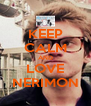 KEEP CALM AND LOVE NERIMON - Personalised Poster A4 size