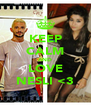 KEEP CALM AND LOVE NESLI <3 - Personalised Poster A4 size