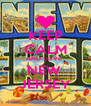 KEEP CALM AND LOVE  NEW  JERSEY - Personalised Poster A4 size