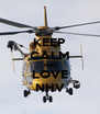 KEEP CALM AND LOVE NHV - Personalised Poster A4 size