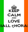 KEEP CALM AND LOVE NIALL çHORAN - Personalised Poster A4 size