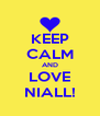KEEP CALM AND LOVE NIALL! - Personalised Poster A4 size