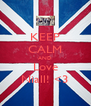 KEEP CALM AND Love Niall! <3 - Personalised Poster A4 size