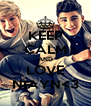 KEEP CALM AND LOVE NIAYN<3 - Personalised Poster A4 size