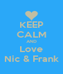 KEEP CALM AND Love Nic & Frank - Personalised Poster A4 size
