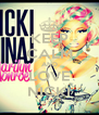 KEEP CALM AND LOVE NICKI - Personalised Poster A4 size