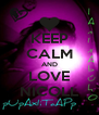 KEEP CALM AND LOVE NICOLL - Personalised Poster A4 size