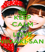 KEEP CALM AND LOVE NIIGAKI-SAN  - Personalised Poster A4 size