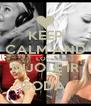 KEEP CALM AND LOVE NIJOLĘ IR GODĄ  - Personalised Poster A4 size