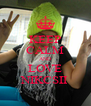 KEEP CALM AND LOVE NIKCSII - Personalised Poster A4 size
