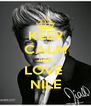 KEEP CALM AND LOVE  NILE - Personalised Poster A4 size