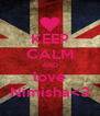 KEEP CALM AND love Nimisha<3 - Personalised Poster A4 size