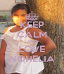KEEP CALM AND LOVE NOHELIA - Personalised Poster A4 size
