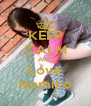 KEEP CALM AND Love Nomiko - Personalised Poster A4 size
