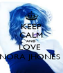 KEEP CALM AND LOVE  NORA JHONES  - Personalised Poster A4 size