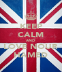 KEEP CALM AND LOVE NOUR HAMED - Personalised Poster A4 size