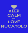 KEEP CALM AND LOVE NUCATOLO - Personalised Poster A4 size
