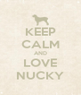 KEEP CALM AND LOVE NUCKY - Personalised Poster A4 size