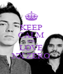 KEEP CALM AND LOVE NX ZERO - Personalised Poster A4 size